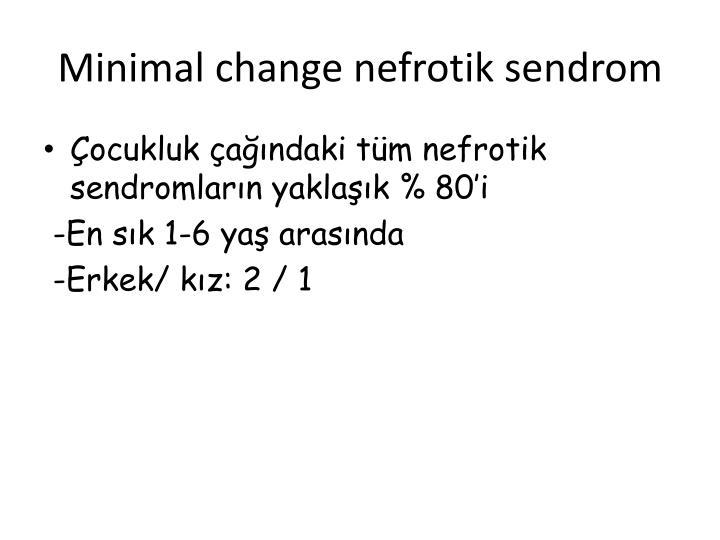 Minimal change nefrotik sendrom