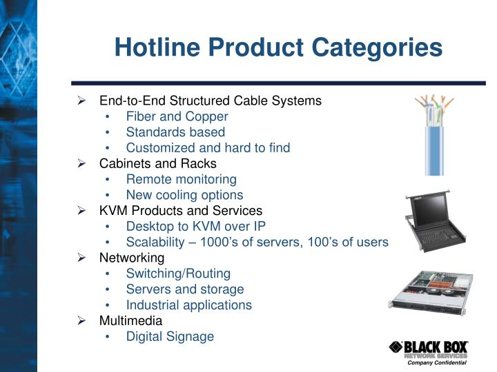 Hotline Product Categories