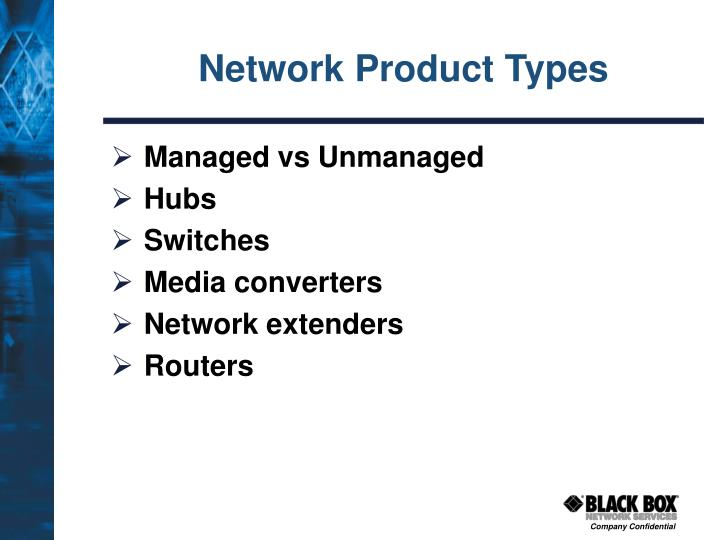 Network Product Types