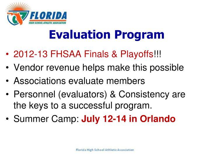 Evaluation Program