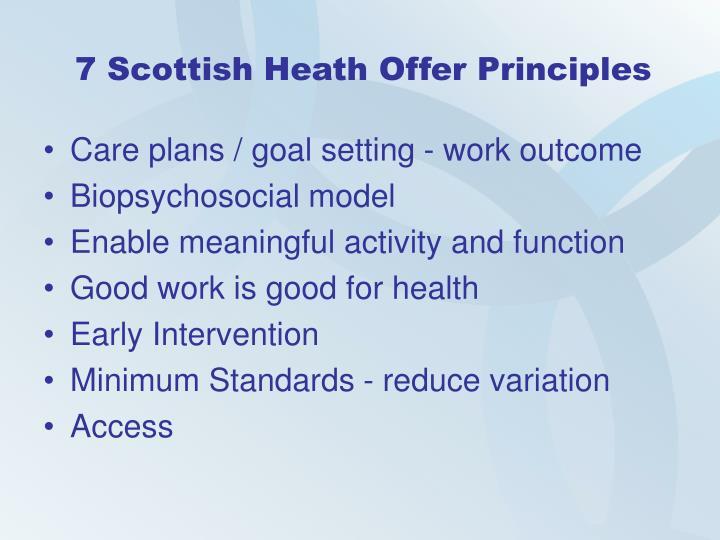 7 Scottish Heath Offer Principles