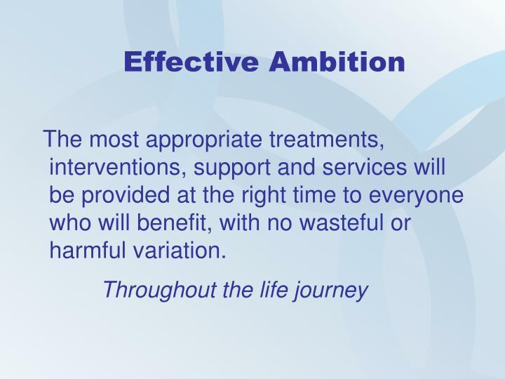 Effective Ambition