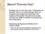 beyond diversity days