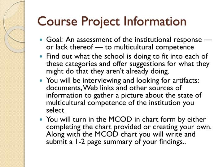 Course Project Information
