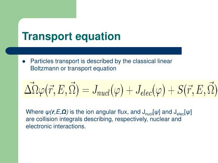 Transport equation