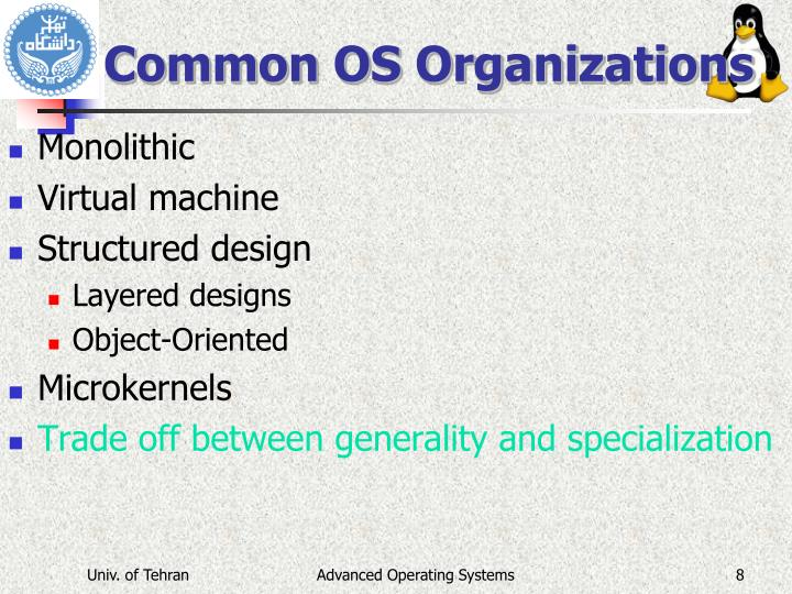 Common OS Organizations