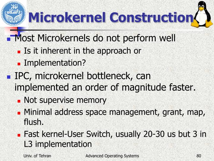 Microkernel Construction
