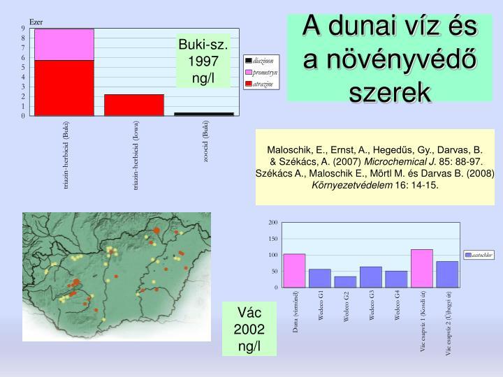 A dunai víz és a növényvédő szerek