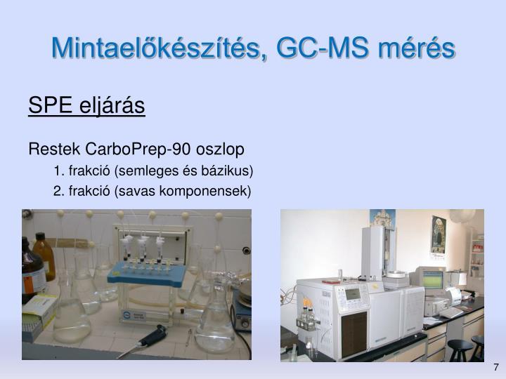 Mintaelőkészítés, GC-MS mérés