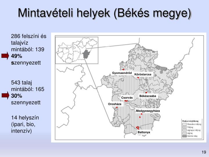 Mintavételi helyek (Békés megye)