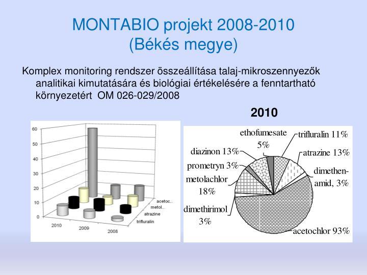 MONTABIO projekt 2008-2010