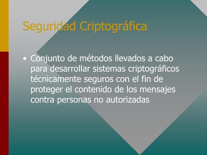 Seguridad Criptográfica