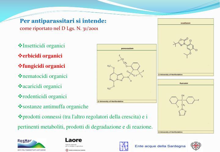 Insetticidi organici