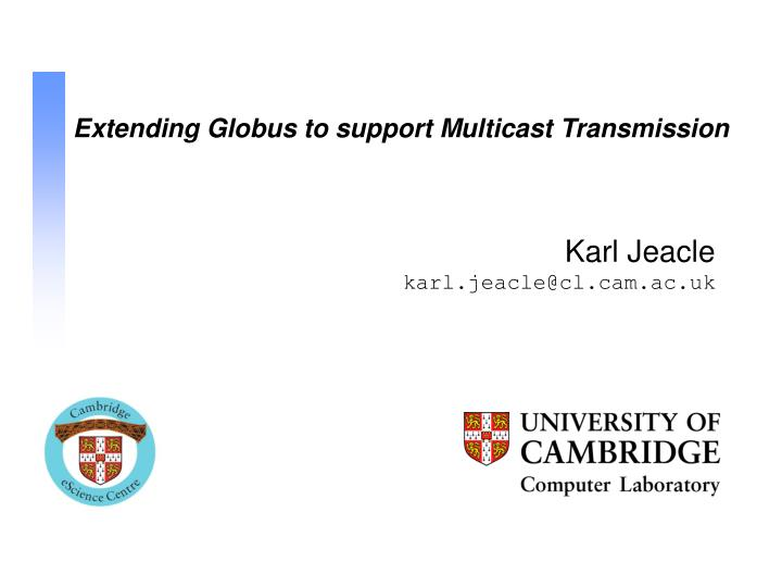 Extending Globus to support Multicast Transmission