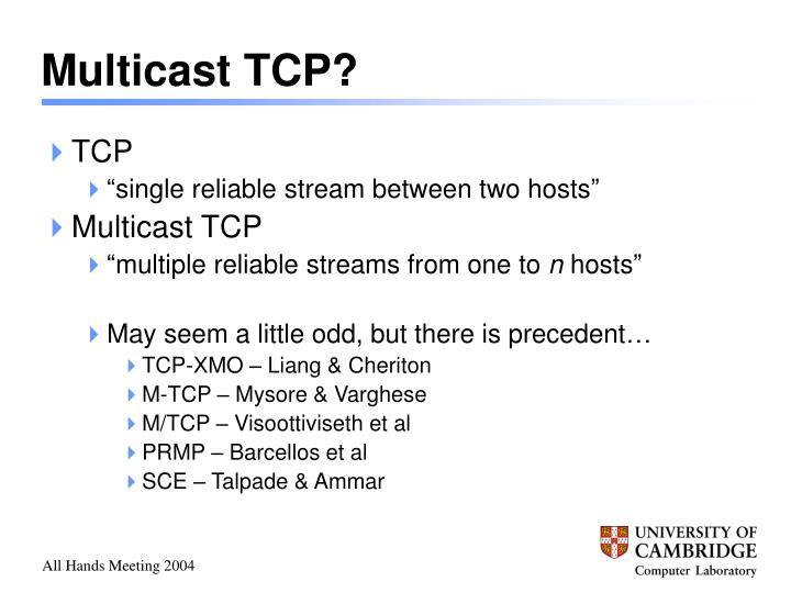 Multicast TCP?