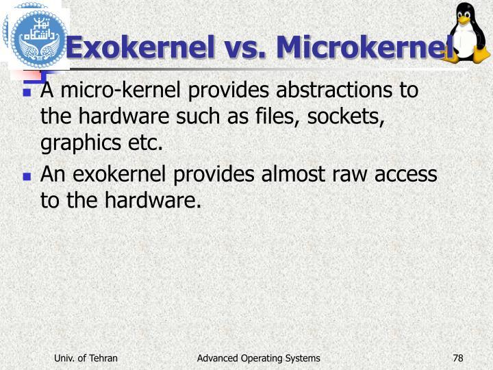 Exokernel vs. Microkernel