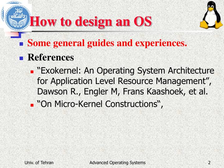 How to design an os