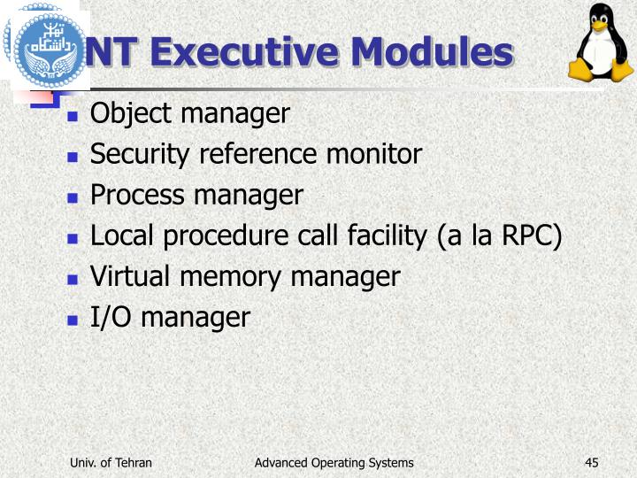 NT Executive Modules