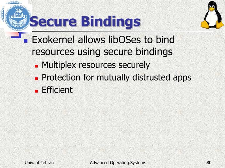 Secure Bindings