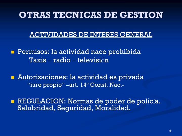 OTRAS TECNICAS DE GESTION