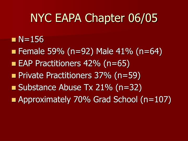 NYC EAPA Chapter 06/05