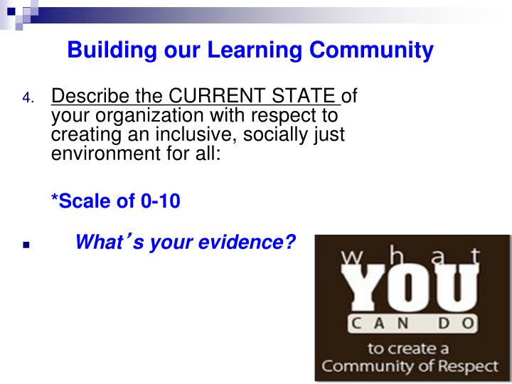 Building our Learning Community