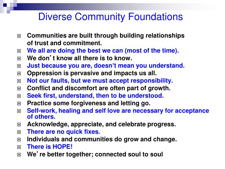 Diverse Community Foundations