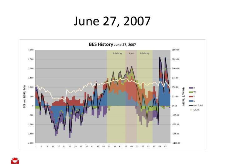 June 27, 2007