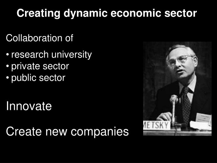 Creating dynamic economic sector