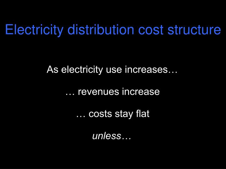 Electricity distribution cost structure