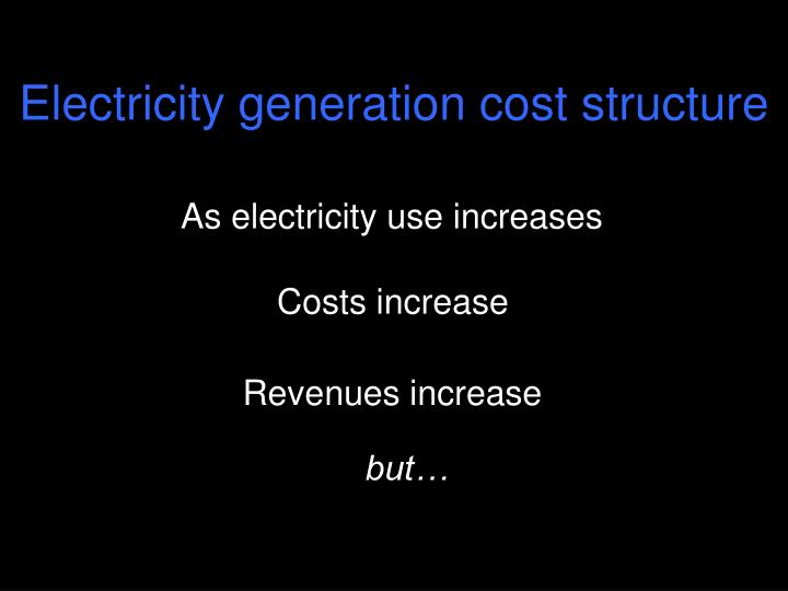 Electricity generation cost structure