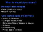 what is electricity s future1