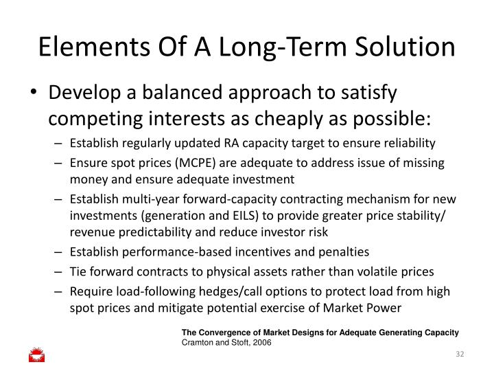 Elements Of A Long-Term Solution