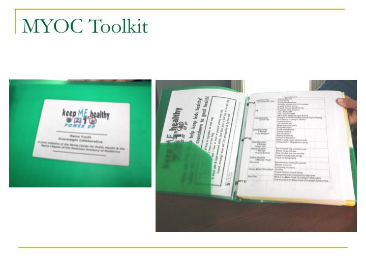 MYOC Toolkit