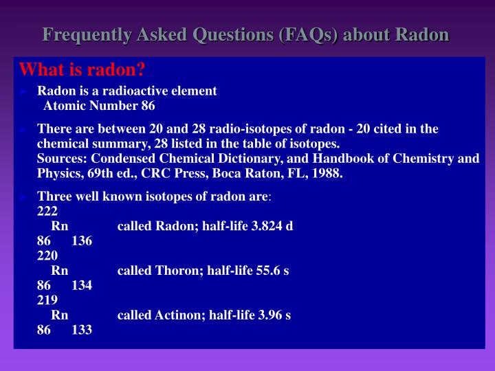 Frequently asked questions faqs about radon
