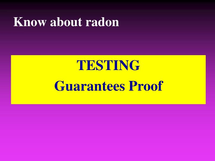 Know about radon