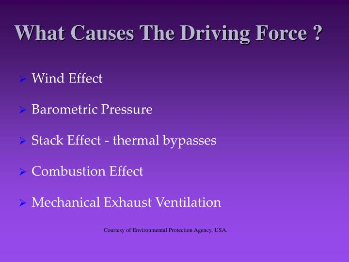 What Causes The Driving Force ?