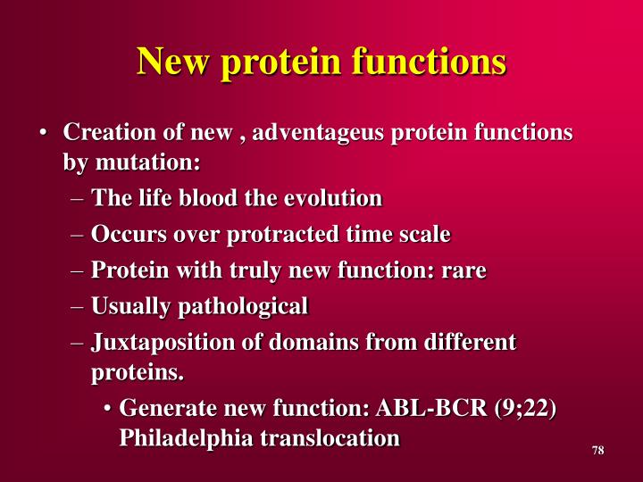 New protein functions