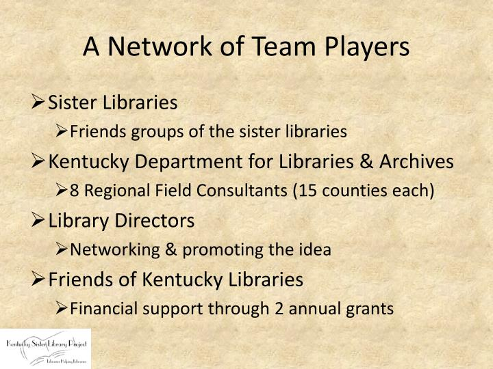 A Network of Team Players