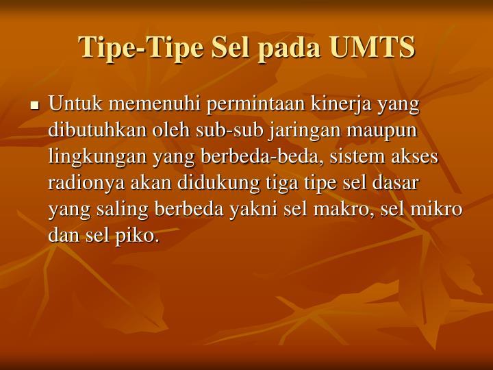 Tipe-Tipe Sel pada UMTS