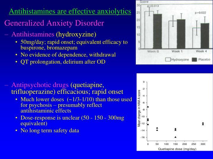 Antihistamines are effective anxiolytics