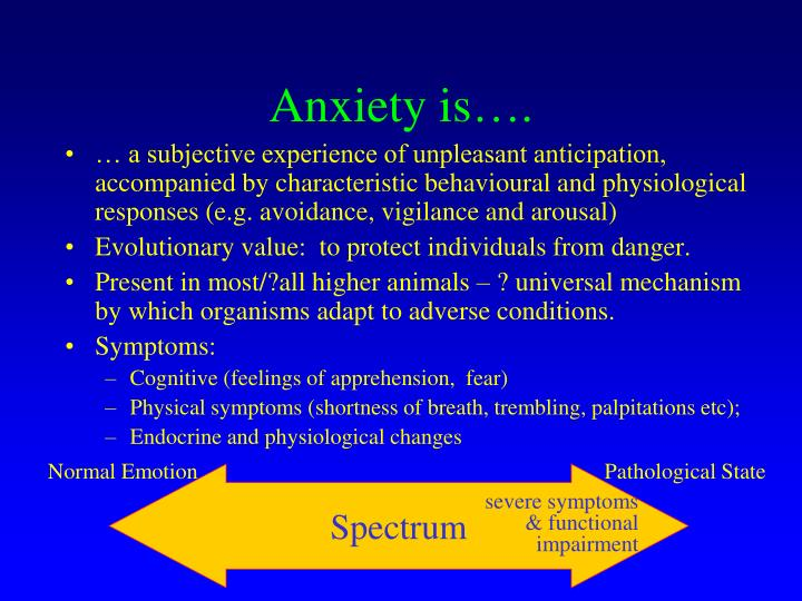 Anxiety is….