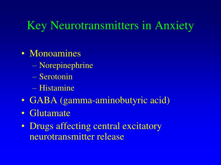 Key Neurotransmitters in Anxiety