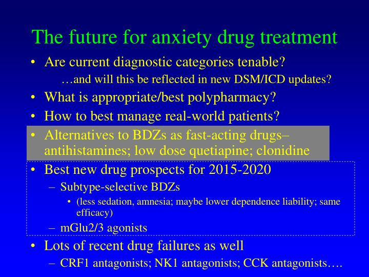 The future for anxiety drug treatment