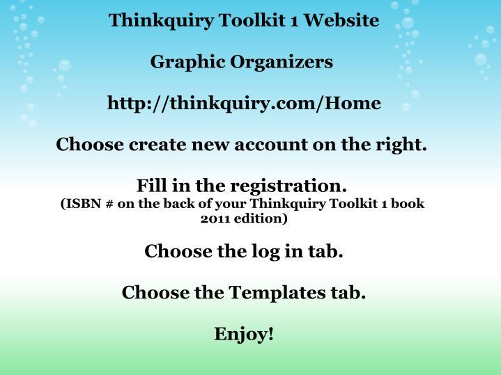 Thinkquiry Toolkit 1 Website