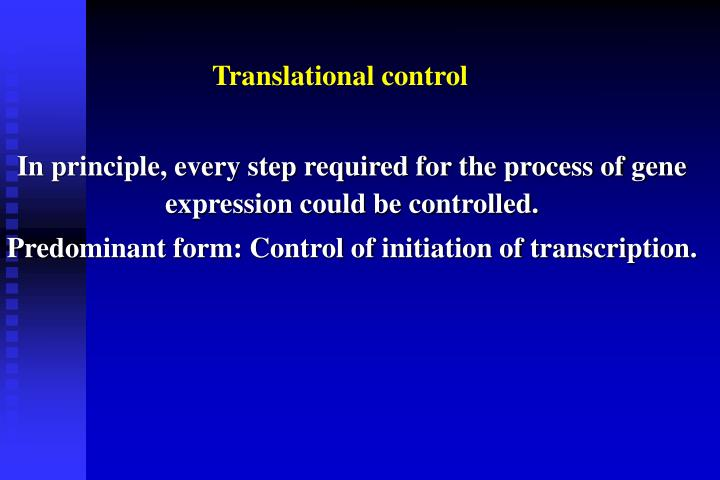 Translational control