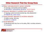 other research that our group does