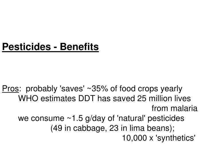 Pesticides - Benefits