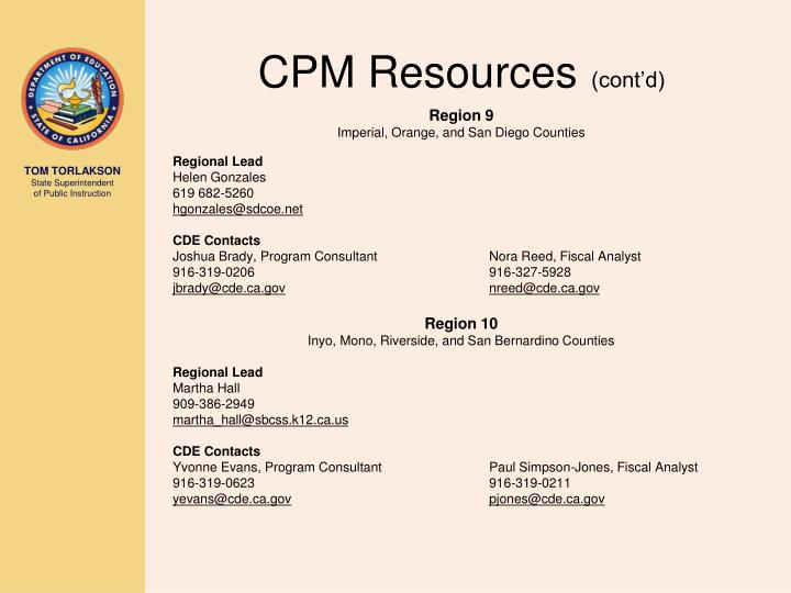 CPM Resources