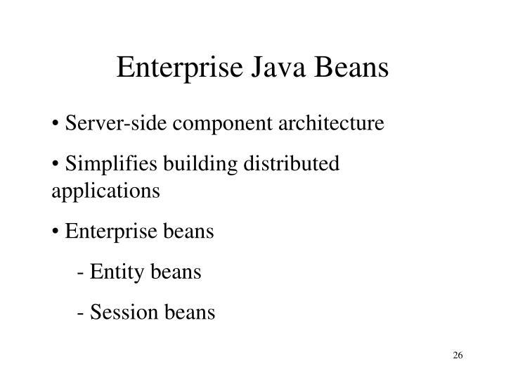 Enterprise Java Beans